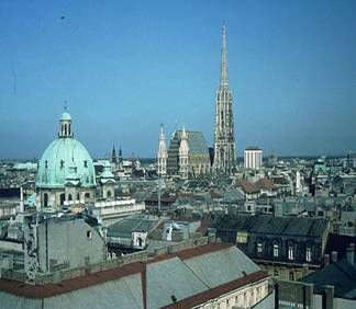 View of downtown Vienna from Karlsplatz
